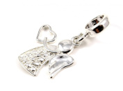 Genuine Solid Silver 925 lovely angel charm bead compatible with Pandora bracelet
