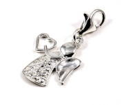 Genuine Solid Silver 925 lovely angel clip on charm ideal for Thomas Sabo bracelet or necklace