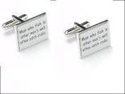 man who fish , cufflinks, in gift box ideal gift