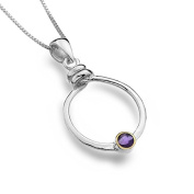 Sterling Silver and Amethyst Circle Pendant