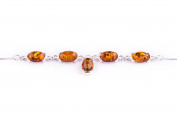 Baltic Cognac Amber and 925 Sterling Silver Necklace Jewellery 44-49cm