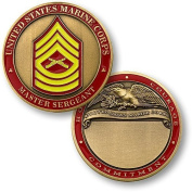 U.S. Marines Master Sergeant Engraveable Challenge Coin by Northwest Territorial Mint