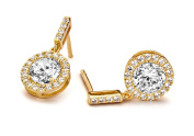 Velini, ladies 18k gold plated earring EA6150, 925 sterling silver, micro pave setting, AAA quality, cubic zirconia stones, shines like diamonds