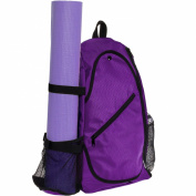 LISH Yoga Mat Bag - Crossbody Backpack For Yoga, Hiking, Biking and Travel