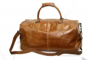 Large Weekend, Gym, Holdall, Travel, Sports Duffle Tan Colour Real Strong Cowhide Glazed Leather Bag