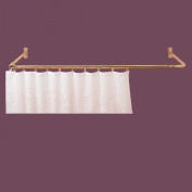 Shower Curtain Rod Bright Solid Brass 3 Sided | Renovator's Supply