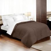 MADE IN THE USA 800TC 100% Cotton Sateen Down Alternative Comforter, Twin, Espresso By Veratex