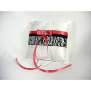 Simply Charming RP416 Honeysuckle and Zebra Ring Pillow