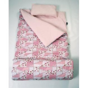 SoHo kids Pretty In Pink children sleeping slumber bag with pillow and carrying case lightweight foldable for sleep over