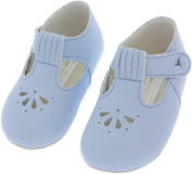 B617 BABY GIRL & BABY BOY FIRST PRAM SHOES | From 0-3 Months | Black Blue Cream Pink White