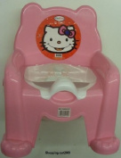 KIDS HELLO KITTY POTTY TRAINING CHAIR SEAT WITH REMOVABLE POTTY LID PINK NEW