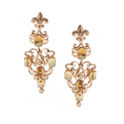 Dallas Prince Silver Citrine and White Topaz Drop Earrings
