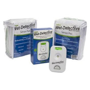 Wet Detective Incontinence & Bedwetting Pad Alarm System with Two Sensor Pads