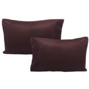 Brown Pillowcase Set Solid Colour Pillow Covers