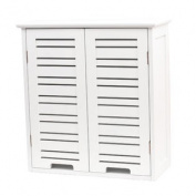 Wall Mounted Bathroom Cabinet Miami Wood White Finish 50cm L X 60cm H