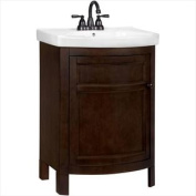 PPTUSCHO22Y American Classics Tuscan 60cm . W x 46cm . D Vanity in Chocolate with Vitreuos Top in White