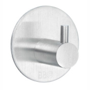 Design Hook Single Self Adhesive Brushed Stainless Steel