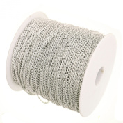 10 Metres 3mm x 2mm Silver Plated Cable Chains Craft Jewellery Making Beading Fashion Arts Crafts