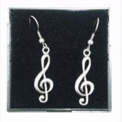 Fine Quality English Pewter Music Design Earrings, Lovely Gift Idea