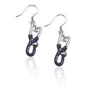 Sterling Silver Stethoscope Charm Earrings