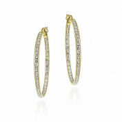 DB Designs 18k Gold over Sterling Silver Diamond Accent Earring Hoop Earrings
