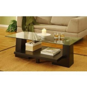 Contours Levelled Coffee Table, Black