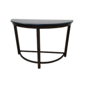 Half Round Metal Console Table Marble Top