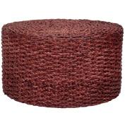 Rush Grass Knotwork Coffee Table/Ottoman - Mahogany