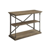 Slab Brown Console Table