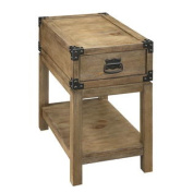 Carmel Natural One Drawer Chairside Table