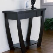 Arc Modern Design Black Finish Console Sofa Table