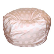 90cm Wide Washable Large Bean Bag Chair - Delightful Dots Light Pink