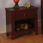 Solid Wood Cherry Finish Youth Bedroom Night Stand