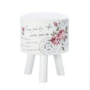 Butterfly Post White Stool