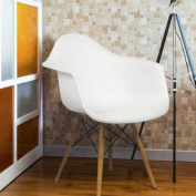 Eames Style Armchair Mid Century Modern Moulded Plastic Shell Arm Chair