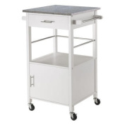 Winsome Davenport Kitchen Cart with Granite Top