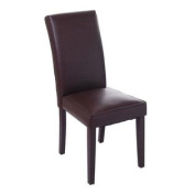 PU Leather Contemporary Parson Dining Chair - Brown