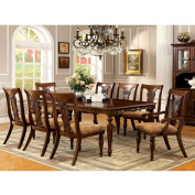 Seymour English Style Dark Oak Finish 9-Piece Formal Dining Table Set
