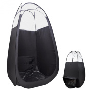 "AW Pop Up Black Airbrush Sunless Spray 45x 45"" x 210cm Tanning Tent Booth Air Vent Clear Top Mobile w/ Bag"