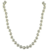 White 8-mm Glass Pearl Strand Necklace, 140cm or 230cm