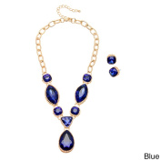 "Alexa Starr Multi-shape Crystal ""Y"" Necklace and Earrings Jewellery Set"