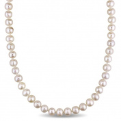 Miadora White Cultured Freshwater Pearl Endless 36-inch Necklace