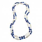 Blue Freshwater Pearl and White Shell Endless Necklace