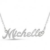 Silver Overlay 'Michelle' Nameplate Necklace