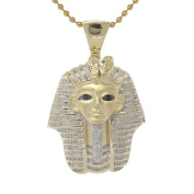Sterling Silver 1.2ct TDW Diamond Egyptian Mummy Heat Pendant
