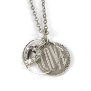 Sweet Romance Love Coin Pendant Necklace