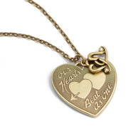 Sweet Romance Pewter 'Our Hearts Beat As One' Necklace