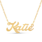 18k Goldplated 'Katie' Nameplate Necklace