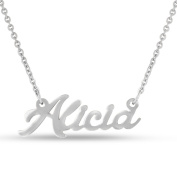 Silver Overlay 'Alicia' Nameplate Necklace