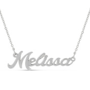 Silver Overlay 'Melissa' Nameplate Necklace